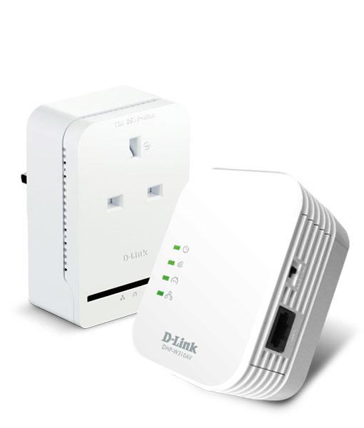 dhp wp311av n300 av500 wifi powerline extender with pass through adapter starter kit dhp. Black Bedroom Furniture Sets. Home Design Ideas